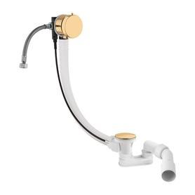 CGS syfon wannowy przelewowo-odpływowo-napełniający, złoty TK122-PLUS-3.17+64-SGL