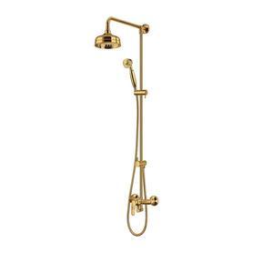 ART DECO system prysznicowy natynkowy, złoty      AD5144GL