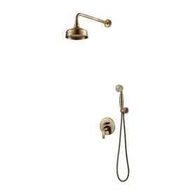 ART DECO system prysznicowy podtynkowy, brąz antyczny     SYSAD26BR
