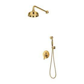 ART DECO system prysznicowy podtynkowy, złoty      SYSAD27GL