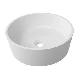 BARI umywalka nablatowa Marble+, o38cm, biały połysk      BARIUNBP