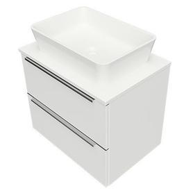 OMNIDREAM blat, umywalka Marble+ PARMA, 60x42cm, biały połysk     DREAMSET6021BP