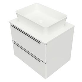 OMNIDREAM blat, umywalka Marble+ PARMA, 60x46cm, biały połysk     DREAMSET6121BP