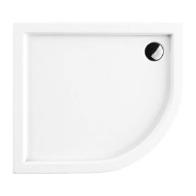 RIVERSIDE brodzik prysznicowy akrylowy, półokrągły, 90x80cm, biały połysk     RIVERSIDE80/90/LBP