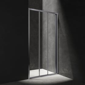 S drzwi prysznicowe przesuwne, trójdzielne, 90cm, chrom/transparentny     S20A390CRTR