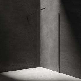 MARINA kabina prysznicowa walk-in, 90cm, czarny/transparentny      DNR90XBLTR