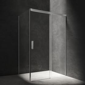 SOHO kabina prostokąt, drzwi przesuwne, 120x80cm, chrom/transparentny     SO1280CRTR