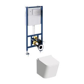 FONTANA miska z deską FONTANA i zestawem podtynkowym do WC CLASSIC 3w1 FONTANASETBPCR