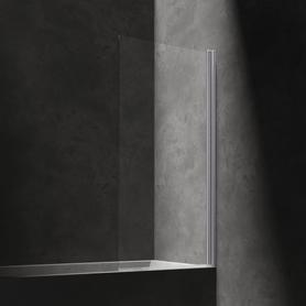 KENTON parawan nawannowy, 70cm, chrom/transparentny       MP75CRTR