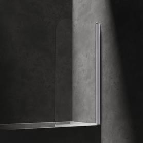 MAYFAIR parawan nawannowy, jednoskrzydłowy, 70cm, chrom/transparentny      QP93B-PLUXCRTR