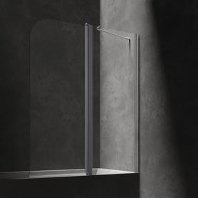 MAYFAIR parawan nawannowy, ze ścianką stałą, 115cm, chrom/transparentny    QP95B-PLUXCRTR