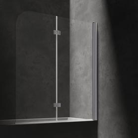 MAYFAIR parawan nawannowy, dwuskrzydłowy, 120cm, chrom/transparentny      QP97BLUXCRTR