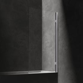 WATERLOO parawan nawannowy, 80cm, chrom/transparentny       HMP80XCRTR