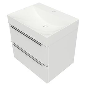 OMNIDREAM szafka z umywalką Marble+ NAXOS, 60x46cm, biały połysk    DREAMSET6130BP