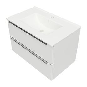 OMNIDREAM szafka z umywalką ceramiczną ORLANDO, 76x47cm, biały połysk    DREAMSET7631BP
