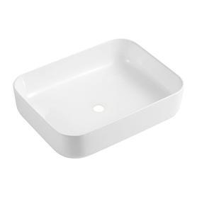 CORONA umywalka nablatowa, 50x38,5cm, biały połysk       CORONA500BP