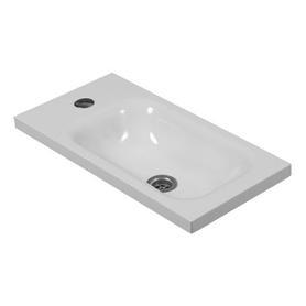 ELBA umywalka nablatowa/wisząca Marble+, 50x25cm, biały połysk      ELBABP