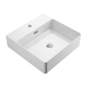 GARLAND umywalka nablatowa/wisząca, 42x43cm, biały połysk       GARLAND420BP