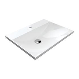 NAXOS umywalka meblowa Marble+, 60x46cm, biały połysk      NAXOSF600BP