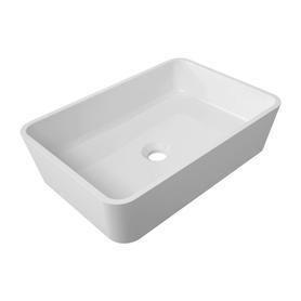 PARMA umywalka nablatowa Marble+, 50x35cm, biały połysk      PARMAUNBP