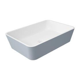 PARMA umywalka nablatowa Marble+, 50x35cm, biały/szary połysk      PARMAUNBSP