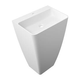 PARMA umywalka wolnostojąca Marble+, 55x43cm, biały połysk      PARMAUWBP