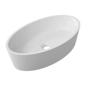 SIENA umywalka nablatowa Marble+, 50x30cm, biały połysk      SIENAUNBP