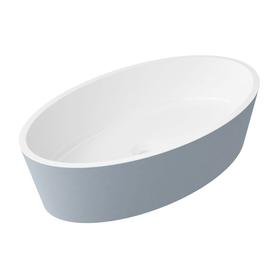SIENA umywalka nablatowa Marble+, 50x30cm, biały/szary połysk      SIENAUNBSP