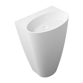 SIENA umywalka wolnostojąca Marble+, 55x43cm, biały połysk      SIENAUWBOBP