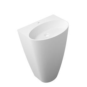 SIENA umywalka wolnostojąca Marble+, 55x43cm, biały połysk      SIENAUWBP