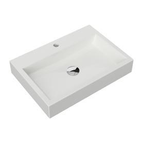 THASOS umywalka nablatowa/wisząca Marble+, 60x42cm, biały połysk      THASOS600BP