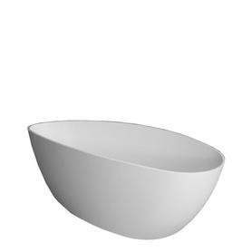BARCELONA wanna Marble+, 156x71x56cm, biały mat      BARCELONA156BM