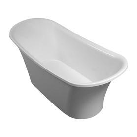 LISBONA wanna Marble+, 158,4x68,9x65,4cm, biały       LISBONA158BP