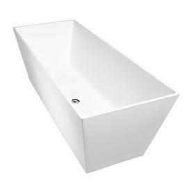 LONDON wanna Marble+, 159,5x65,5x55cm, biały połysk       LONDON159BP