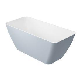 PARMA wanna Marble+, 159x70,5x62cm, biały/szary połysk       PARMAWWBSP