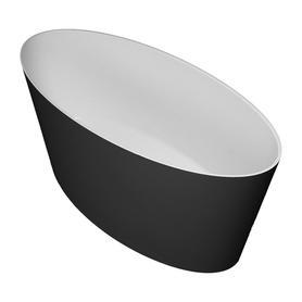 ROMA wanna Marble+, 159x72x65cm, biały/czarny połysk       ROMA159BCP