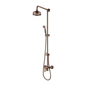 ART DECO system prysznicowy natynkowy, miedź antyczna     AD5144ORB