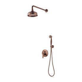 ART DECO system prysznicowy podtynkowy, miedź antyczna     SYSAD28ORB