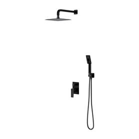 PARMA system prysznicowy podtynkowy, czarny mat       SYSPM10BL
