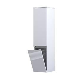 SILVER-Szafka wysoka boczna 35 cm,dwoje drzwi, kolor: biały połysk,  prawa,047028