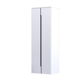 SILVER - Szafka wysoka 50 cm,dwoje drzwi, kolor: biały połysk,OR33-SB2D-50-1