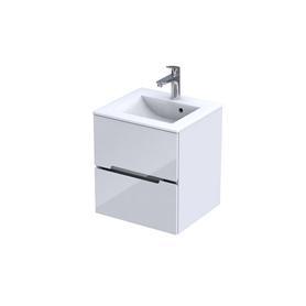 SILVER - Szafka podumywalkowa 50 cm,dwie szuflady, kolor: biały połysk, 046699