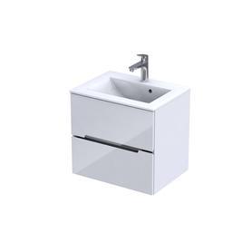 SILVER - Szafka podumywalkowa 60 cm,dwie szuflady, kolor: biały połysk, 046972
