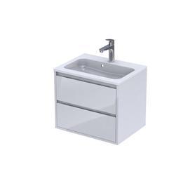 OPERA - Szafka podumywalkowa 60 cm,dwie szuflady, kolor: biały połysk,OR35-SD2S-60-1