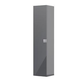 Bold-Szafka wysoka boczna 35 cm,jedne drzwi, kolor: grafit połysk, OR46-SB1D-35-5