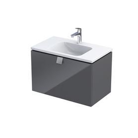 Bold- Szafka podumywalkowa 80 cm,,jedna szuflada, kolor: grafit połysk,OR46-SD1S-80-5-SW