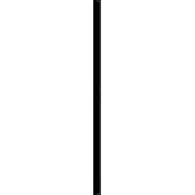 LISTWA SZKLANA UNIWERSALNA NERO 2,3X59,5