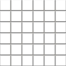 MOZAIKA PRASOWANA ALTEA BIANCO K.4,8X4,8 29,8X29,8
