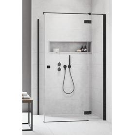 Essenza New Black KDJ Drzwi 80 Prawe Czarny/Przejrzyste 385043-54-01R na Miarę