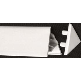 Końcówka listwy maskującej 10 biała  XB430001001